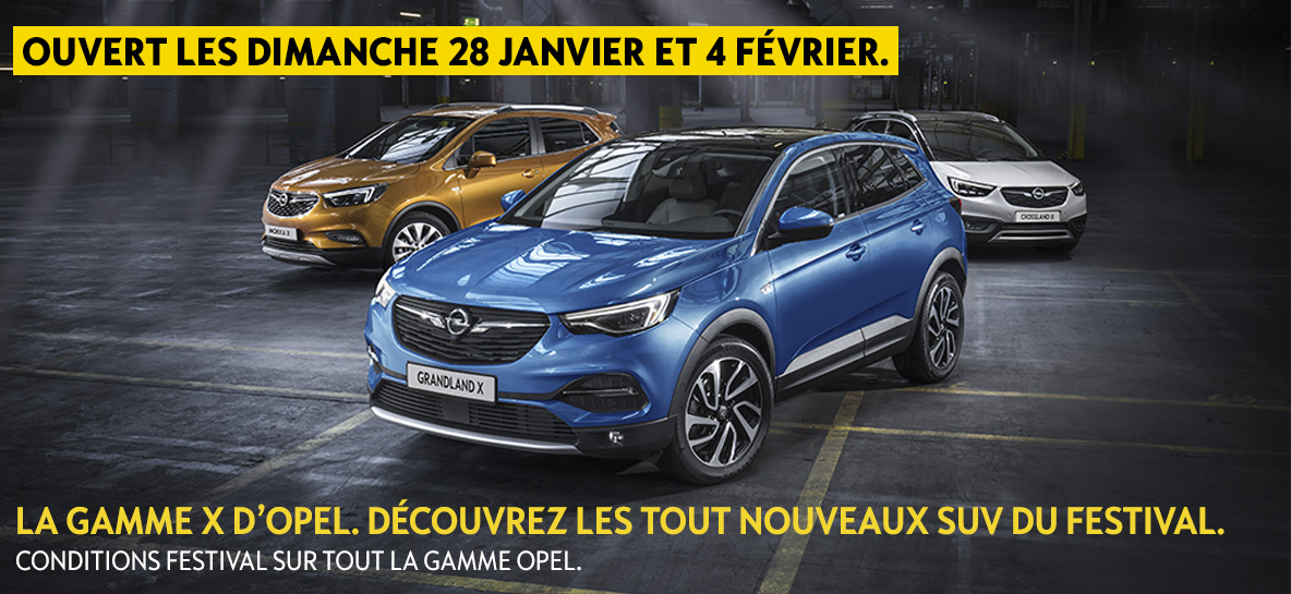 La gamme X d'Opel